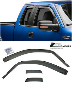 For 04 08 Ford F150 Standard Cab Smoke Tinted Side Vents Sun Shade Rain Guards