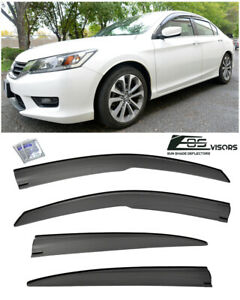 For 13 17 Honda Accord Sedan Jdm Mugen Style Side Vents Sun Shade Rain Guards