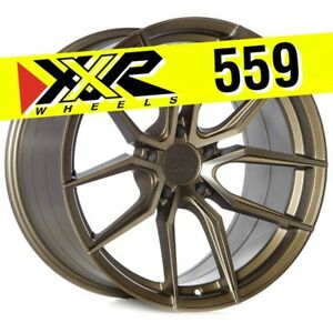 Xxr 559 18x10 5 114 3 20 Bronze Wheels set Of 4 Fits Mitsubishi Lancer Evo