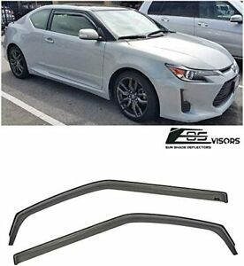 Jdm Smoke Tinted Side Vents Sun Shade Rain Deflectors For 11 16 Scion Tc Gen 2