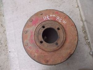 Farmall M 400 450 Mv Tractor Ih Paper Belt Pulley 11 1 2 x 8 1 2