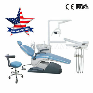Fda Dental Medical Dentist s Stool Adjustable Mobile Chair Pu Leather Skyblue