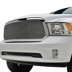 2013 2018 Dodge Ram 1500 Replacement Polished Aluminum Billet Grille W Shell