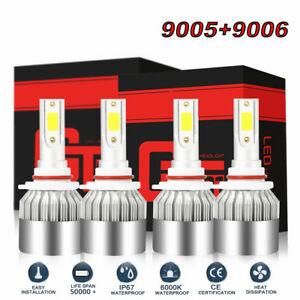 4 Led Headlight Bulb For Chevy Pickup Truck 1500 2500 3500 1990 2000 Low