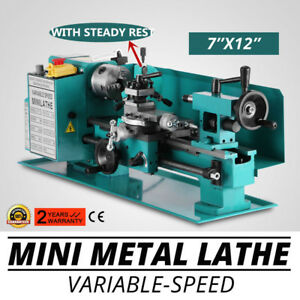 Mini Metal Lathe 7 X 12 with Center frame And Gears Motorized 110v Model Making