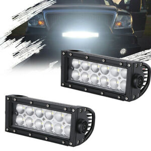 2x6in Led Work Light Bar Flood Lamp Pods Driving Fog Off Road 4x4 Truck Tractor