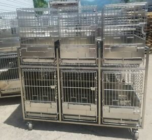 Stainless Steel Primate Cages 6 Cages On Rack
