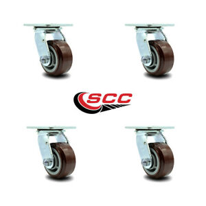 Scc 4 Poly On Polyolefin Wheel Swivel Casters Non Marking Set Of 4