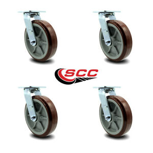 Scc 8 Poly On Polyolefin Wheel Swivel Casters Non Marking Set Of 4