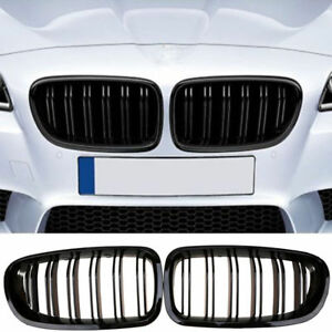 Painted 2010 2016 For Bmw Sedan F10 F11 M5 Gloss Black Front Kidney Grille Grill