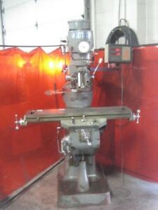 Sharp First Lmv Vertical Knee Mill 9 X 42 R8 3hp Spindle Motor