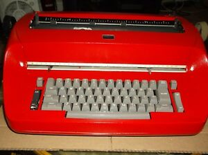 Ibm Antique Selectric I Re furbished Red Vintage 1960s Typewriter