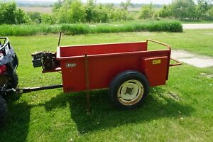 Used Compact Atv Hobby Farm Manure Spreader By Akey Gas Engine Powered To Repair
