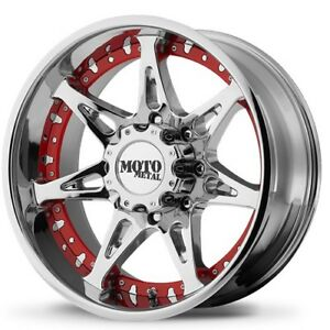 New 4 Off Road 18x10 Moto Metal Wheels Mo961 Chrome Rims