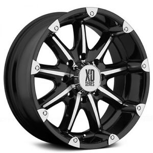 New 4 Off Road 18 Xd Wheels Xd779 Badlands Black Machined Rims