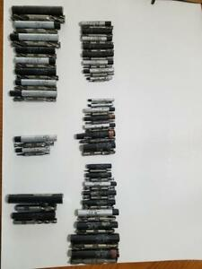 Lot Of 36 Weldon Milling Bits And Over 50 Standard Milling Bits Too Many To List