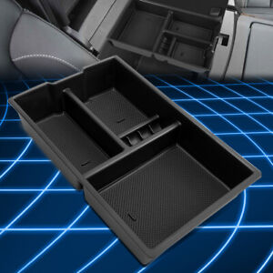 For 09 18 Ram Truck 1500 Abs Center Console Storage Box Armrest Organizer Tray