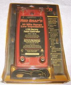 Red Snap r Li30 Electric Fence Controller 30 Mile Range Low Impedance