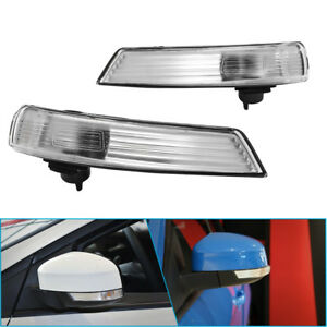 R L Side Wing Mirror Indicator Lamp Lens Clear Cover For Ford Focus 2008 2016