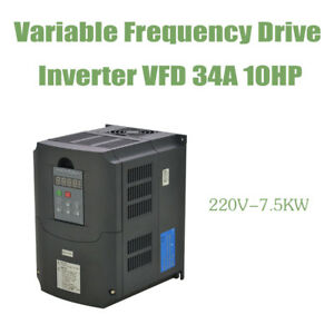7 5kw 10hp 34a 220v Vfd Variable Frequency Drive Inverter