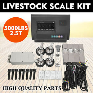 5000lbs Livestock Scale Kit For Animal Stainless Steel Pallet Scale 2 5t