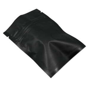 Frosted Black Aluminum Foil Zip Lock Bag Pack Food Storage Package Mylar Pouches