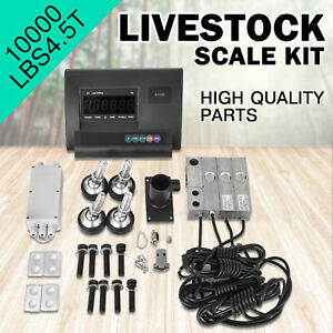 10000lbs Livestock Scale Kit For Animals Junction Box Waterproof Animal Weighing