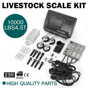 10000lbs Livestock Scale Kit For Animals Alloy Steel Agriculture Indicator
