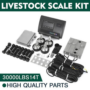 30000lbs Livestock Scale Kit For Animals Stable Pallet Scale Agriculture