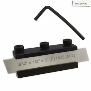 Lathe Clamp Type Parting Cut Off Tool Holder 10mm Shank Hss Blade 1 2
