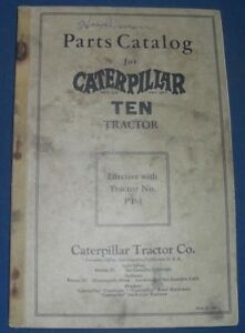 Cat Caterpillar Ten Crawler Tractor Dozer Parts Book Manual S n Pt1 up