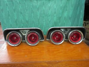 1968 Dodge Charger Tail Lights Assembly original Mopar Left And Right 2853240