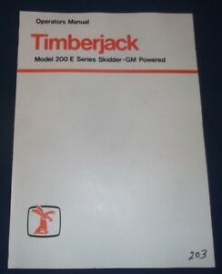 Timberjack 200 e Skidder Gm Engine Operator Operation Maintenance Manual Book