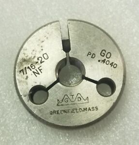 7 16 20 Nf Thread Ring Gage Go Pd 4040