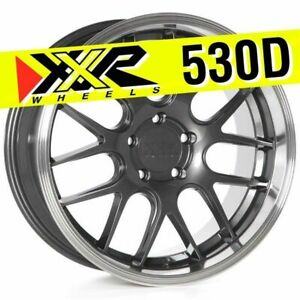 Xxr 530d 18x9 5x114 3 20 Graphite Wheels Set Of 4