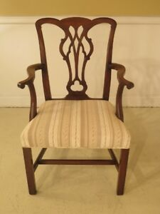 F43949c Kittinger D703 Chippendale Mahogany Armchair