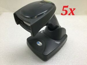 Lot Of 5 Ncr Honeywell 3820 Wireless Bluetooth Barcode Scanner With Base Black