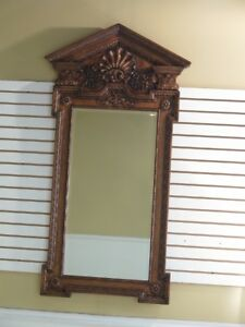 F28865 Theodore Alexander Large Carved Frame Beveled Mirror