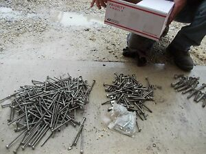 Carriage Bolt Bolts 3 Different Sizes Plow Tractor Implement Box Of Them