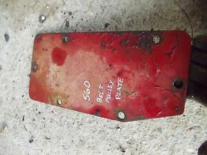 Farmall 560 460 Tractor Belt Pulley Delete Transmission Cover Panel