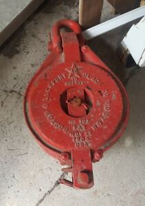 Boston Lockport 12 Inch 3 Sheave Snatch Block Pulley