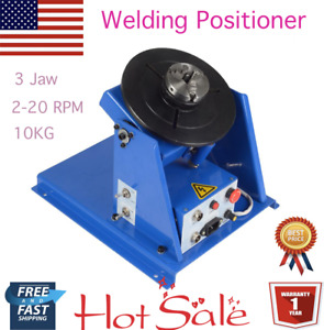 2 5 3 Jaw Lathe Chuck 2 20 Rpm Rotary Welding Welder Positioner Table 10kg Usa