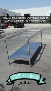 6 Stainless Steel Cutting Table Prep Table 30 X 72 Used