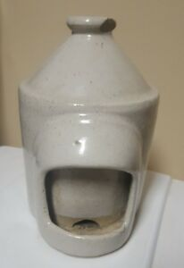 Rare Antique Ceramic Crock Pottery Chicken Waterer Top Chip