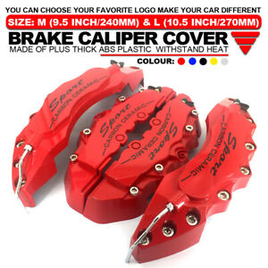 4x Universal Sport Style Disc Brake Caliper Cover Front Rear Red 10 5 Lw01