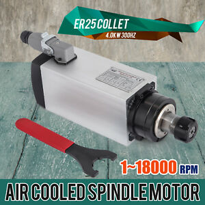 Cnc 4kw Air cooled Spindle Motor Er25 Impact Structure Air Cooled 4 Bearing