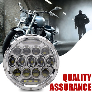 7 Motorcycle Led Projector Daymaker Headlight For Harley Touring Electra Glide