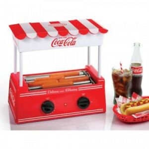 Hot Dog Cooker With Bun Warmer Roller Grill Machine Stainless Steel Non Stick