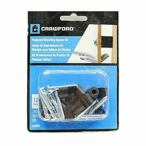 Homeimprovement Crawford Pegboard Mounting Spacer Kit 12 Spacers