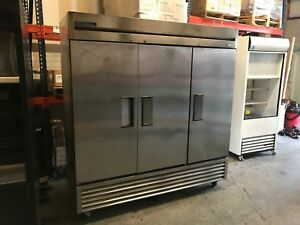 2015 True Manufacturing Freezer T 72f Commercial Solid 3 Door Stainless Reach In